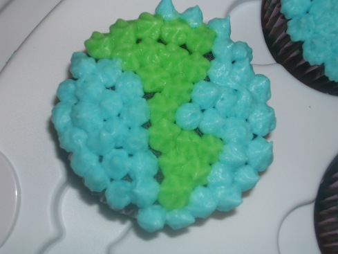 Earth Day Cupcake - close up