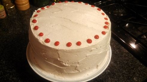 Red Hot Velvet Cake w Cinnamon Buttercream