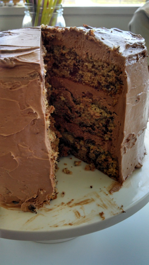 Chocolate-Flecked Layer Cake