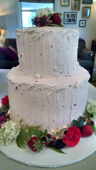 White Velvet Wedding Cake Strawberry Jam Filling Strawberry Buttercream