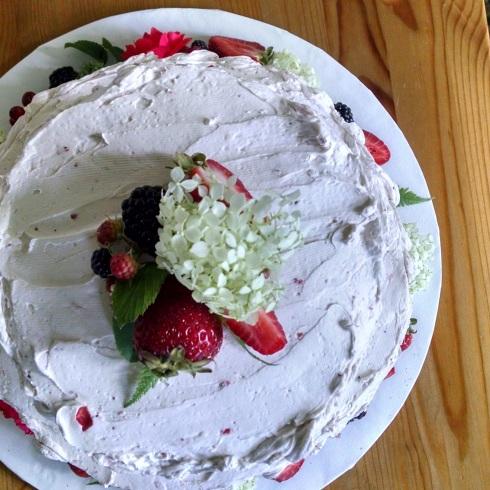 White Velvet Wedding Cake Strawberry Jam Filling Strawberry Buttercream2