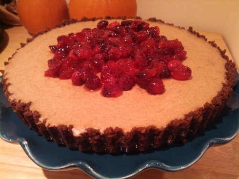 Pumpkin Cream Tart w Gingersnap Crust