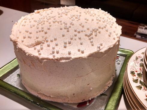 Holiday Spice Cake w Eggnog Buttercream