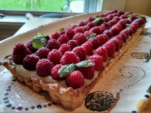 Matcha Raspberry Tart 1
