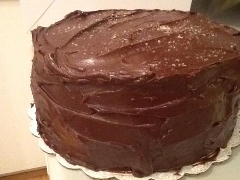 banana cake chocolate ganache