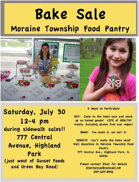 Moraine Township Food Pantry Bake Sale